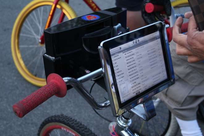 iPad with Powers BMX Bike-Stereo