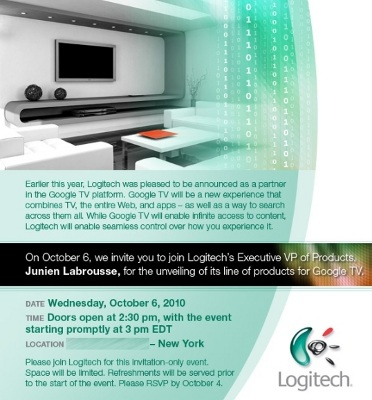 Logitech is going to launch Google TV on October 6