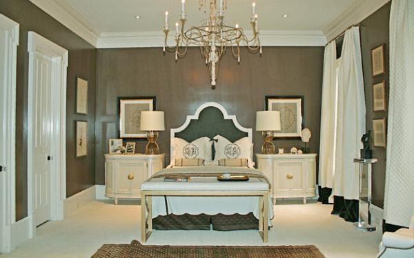 Hollywood Regency Style Master Bedroom