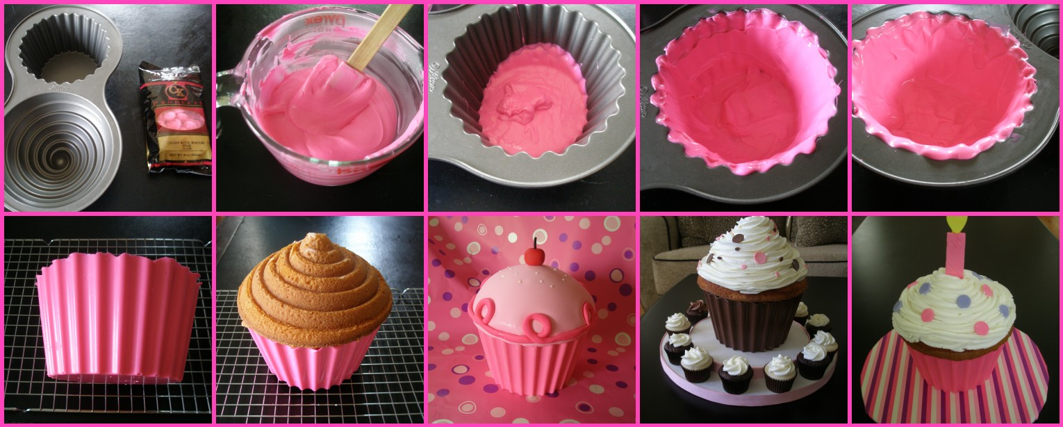 How To Bake A Giant Cupcake