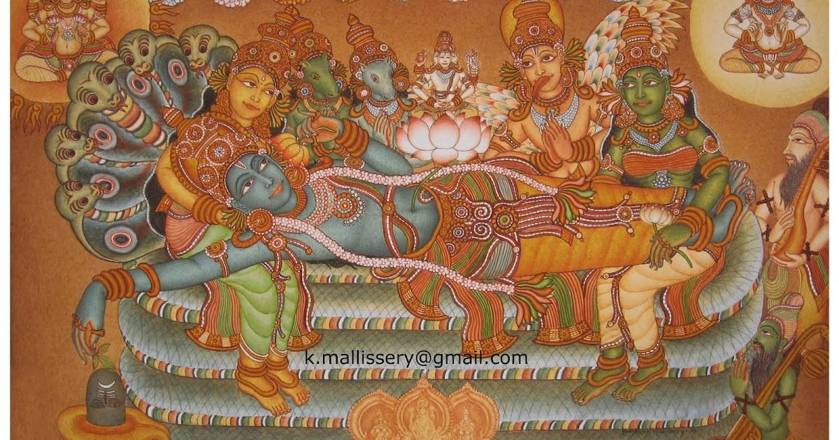 Kerala murals ananthasayanam for Mural kerala