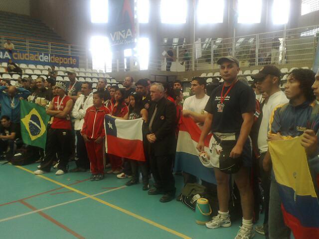 Despedida de  Delegaciones internacionales. Panamericano de Kick Boxing