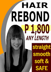 HAIR   REBOND  at P1,800 any length