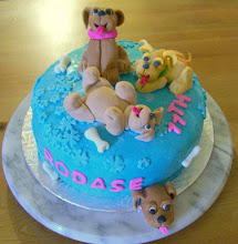 Puppies dog Birthday cake
