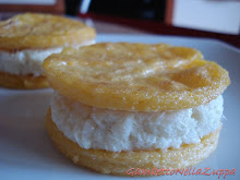 Cookie snack di baccal e polenta