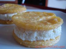 Cookie snack di baccalà e polenta