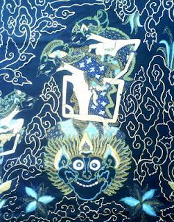 batik mega mendung cirebon motif arjuna tapa