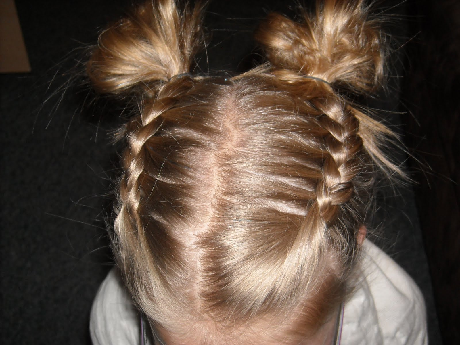 Braid Pigtails Yourself Two Pigtail French Braids