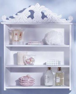 Installing White Wood Shelf