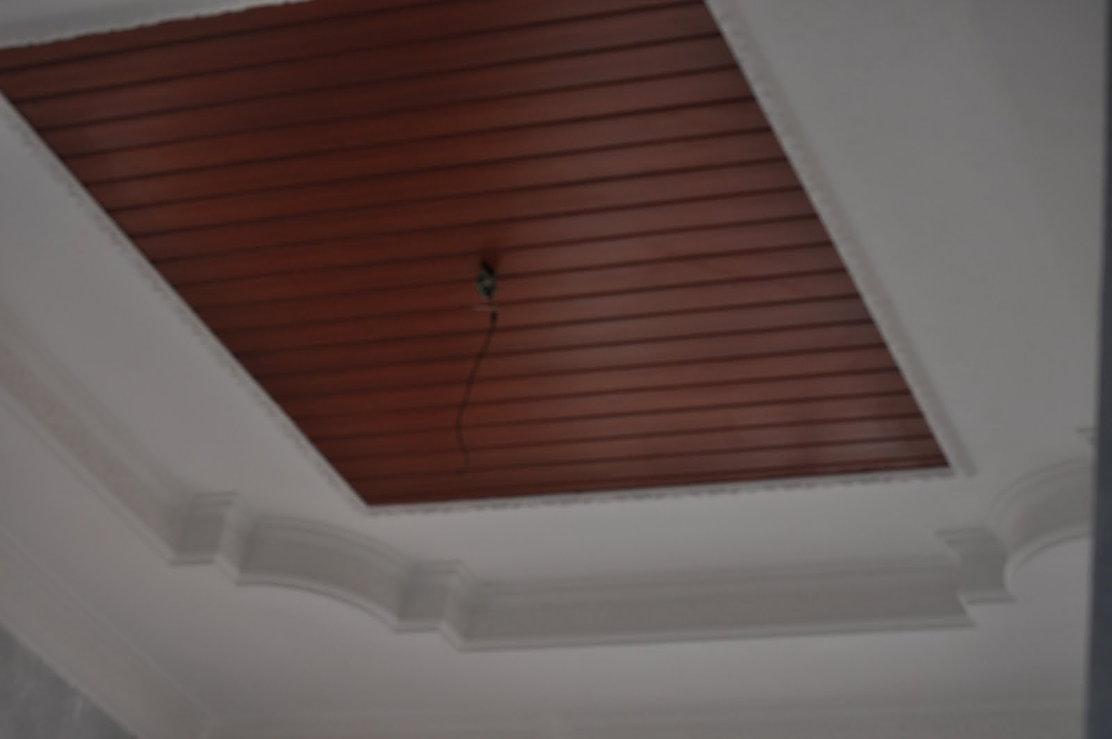 DOUBLE H PLASTER CEILING: siling kapur + ct wood