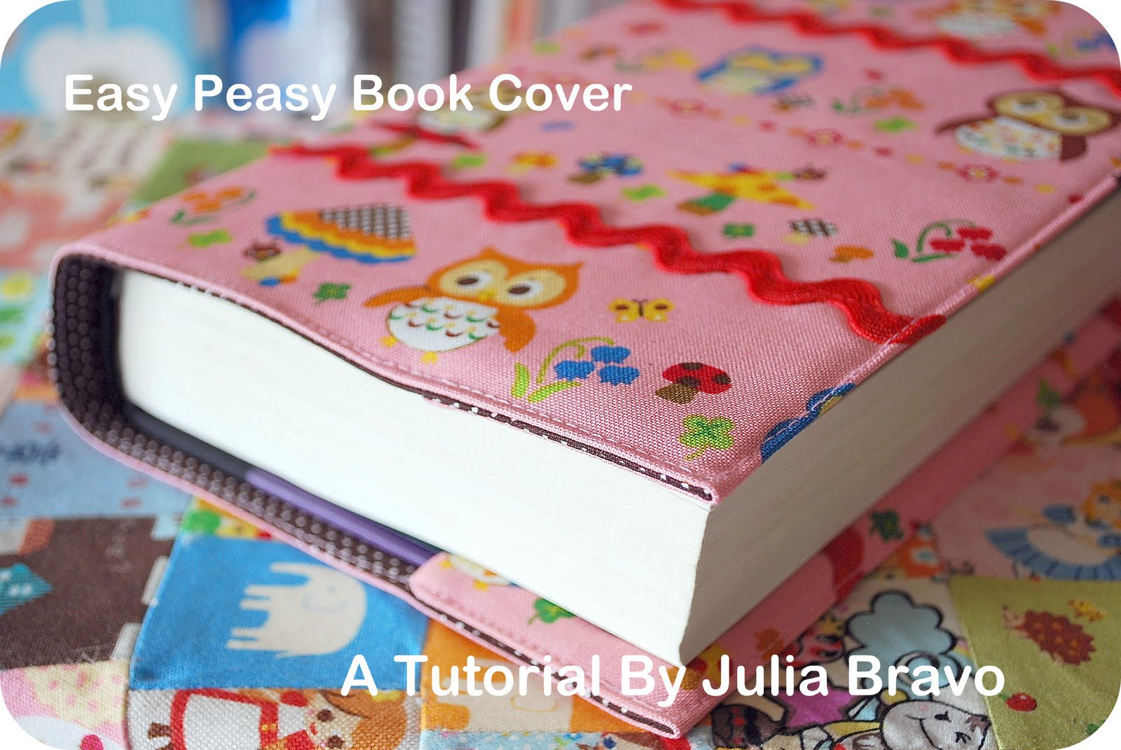 Fabric Book Cover Material ~ Stitches book cover tutorial image heavy