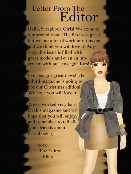 Stardoll Graphic Fashion Scrapbook Magazine Letter To The Editor
