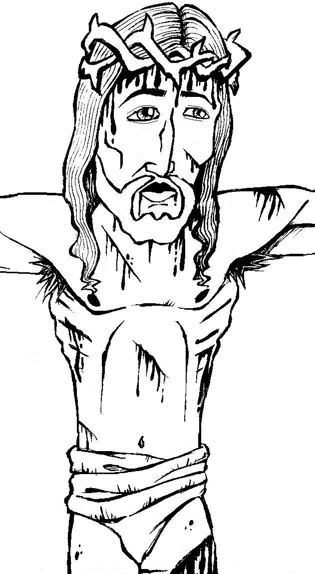 colorindo com a dry desenho religioso para colorir jesus na cruz