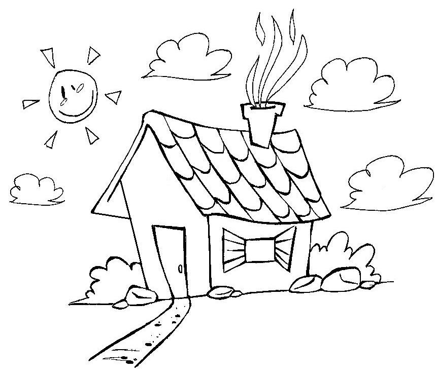 desenho de uma casa para colorir desenhos para colorir