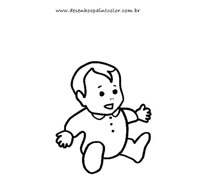 Colorindo com a dry desenho beb para colorir desenhos - Dibujos para paredes de bebes ...