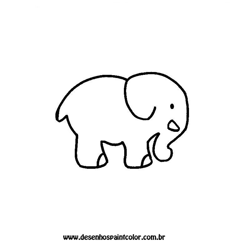 Desenho Elefante Flores Para Colorir Grtis Desenhos Paint Pictures