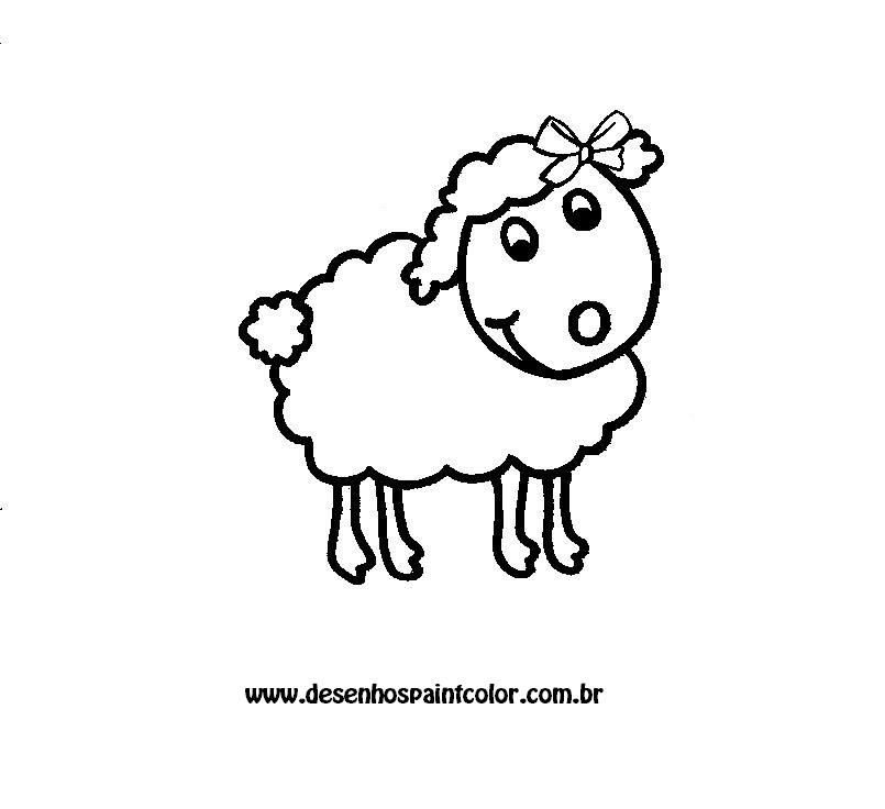 desenho de ovelha para pintar desenhos infantis para colorir