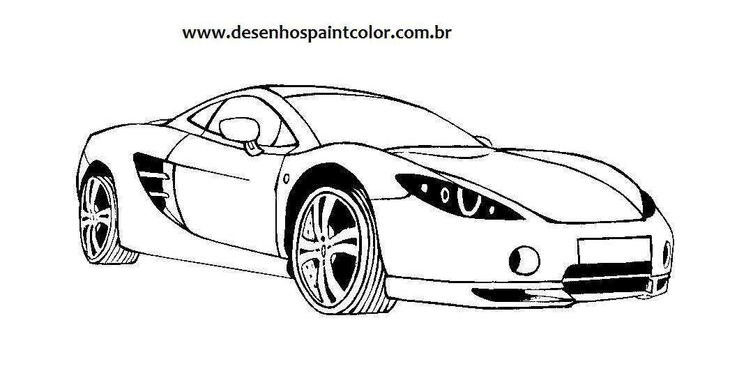 desenho de carro tuning para imprimir e colorir   carro