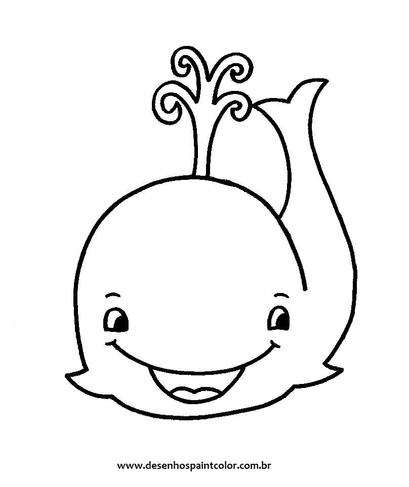 desenho de baleia para imprimir e colorir   desenhos