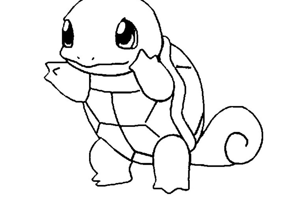 desenho de pokÉmon squirtle para imprimir e colorir gratuitamente