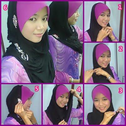 Girl named azzua cara cara memakai tudung n shawl