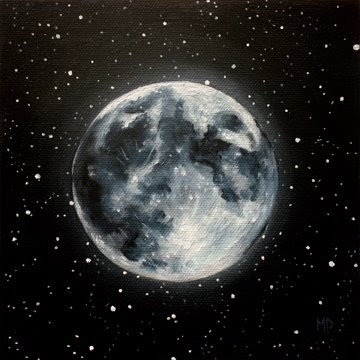 paintings of two moons - photo #45