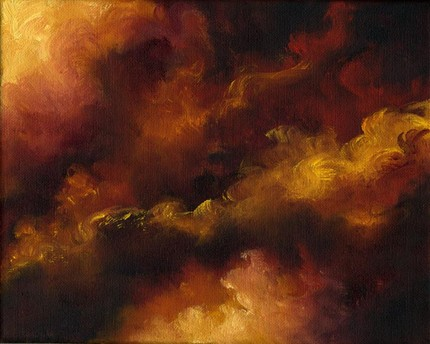 Oil Fire At Night Americacn Painting