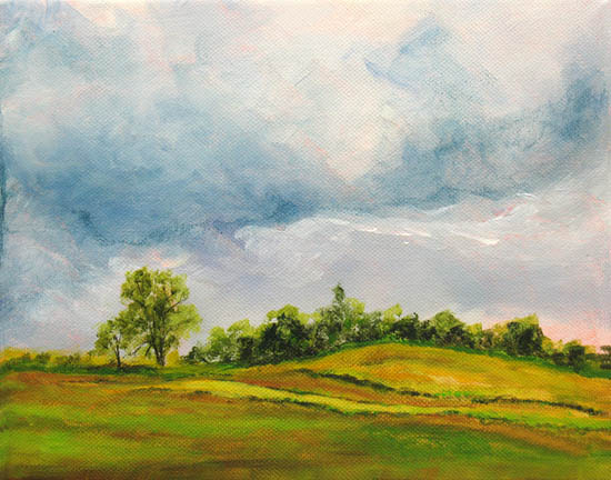 Daily Painting: CountrysideAcrylic Landscape Painting by Marina Petro