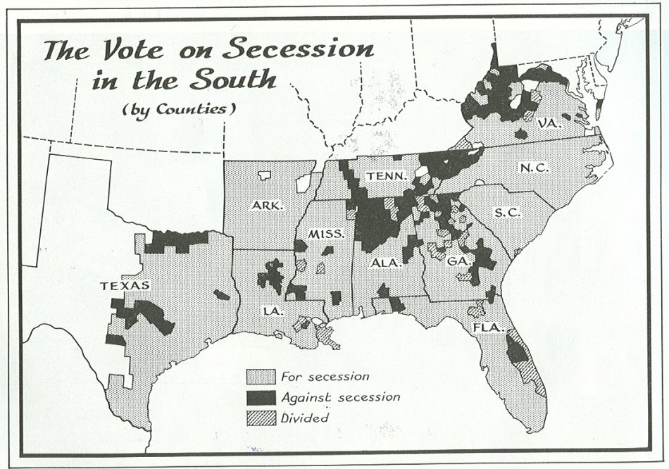 ElectionDissectioncom Civil War Secession Maps - Us map dates of secession