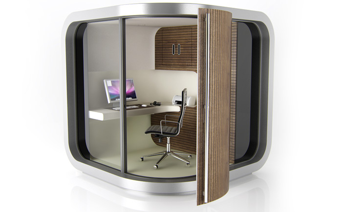 Rétro design l office pod un bureau dans le jardin lost in