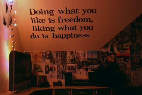 Slaapkamer Muur Quotes : Doing What You Like Is Freedom Quote