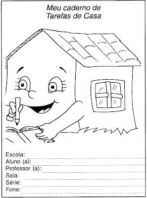 Capa De Caderno De Casa Adri