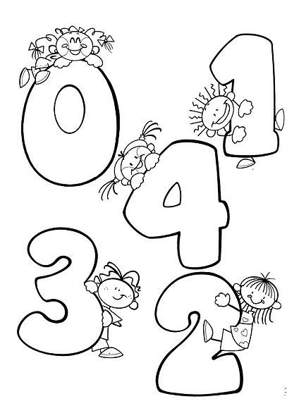 Moldes de numeros grandes del 1 al 10 - Imagui