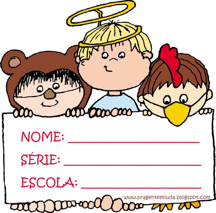 Etiquetas para identificar cadernos