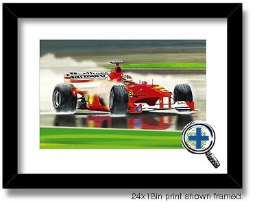 f1 auto car artwork and photo poster