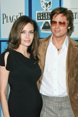 Angelina Jolie Shows Off Baby Bump