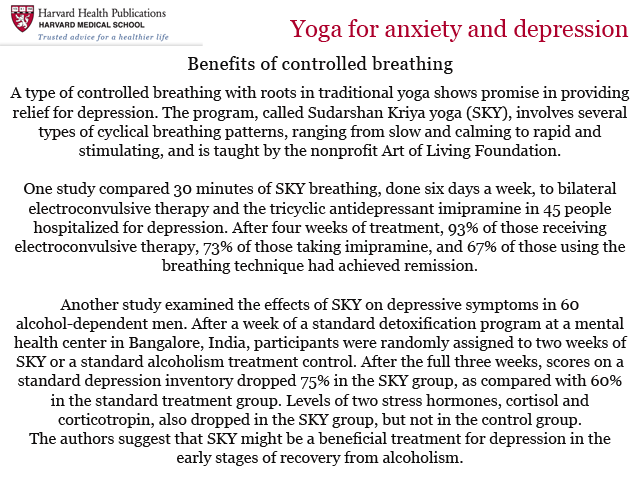 Impact of Sudarshan Kriya - Harvard Health report| Sudarshan Kriya