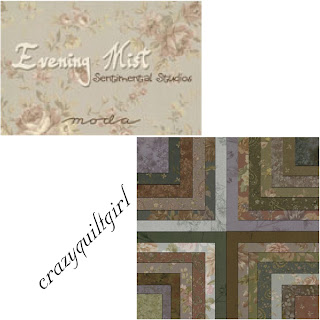 Crazy Quilt Girl Fabric Shop Moda Evening Mist Fabric