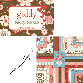 Moda GIDDY Valentine's Day Fabric by Sandy Gervais