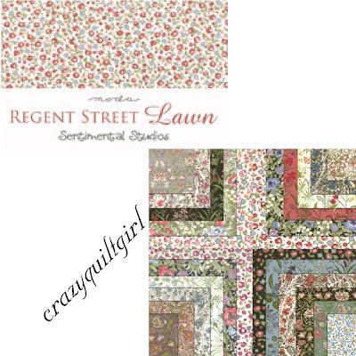 Moda REGENT STREET LAWN Quilt Fabric by Sentimental Studios