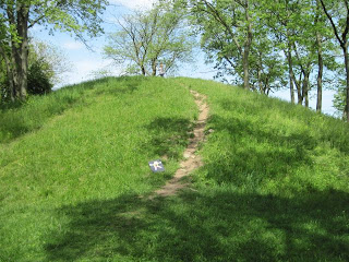 trail on grassy Indian Mound