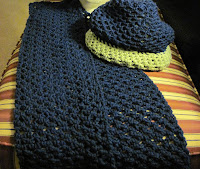 crochet hats and scarves