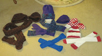 knitted hat scarf and mitten sets