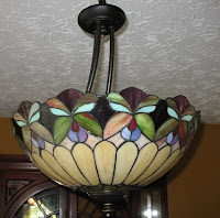 stain glass window style light