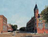 Michael Warth lithograph of The Carlisle Building