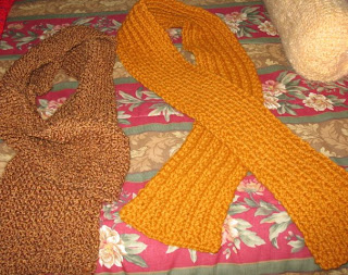 knitted and crocheted scarves
