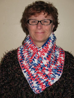 crocheted neck warmer-gator