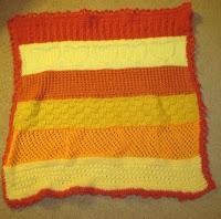 knitted oddball preemie blanket