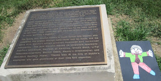 historical marker for Leatherlips hunting camp