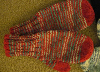 knitted childs mitten